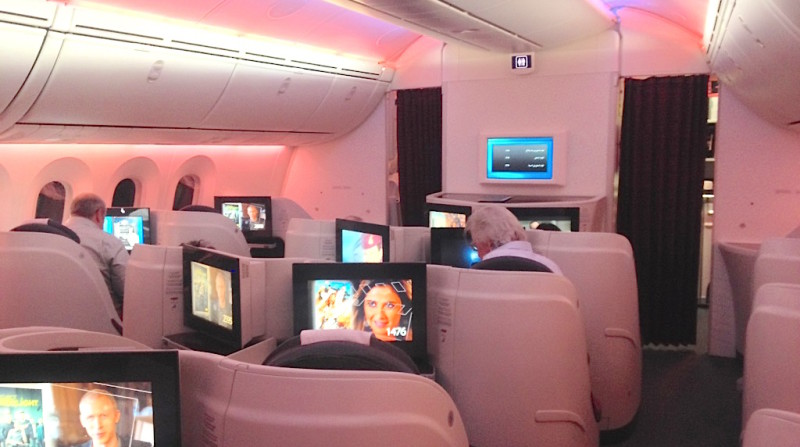 Cabina Business, clase Business, primera clase, Qatar Airways, luxury travel